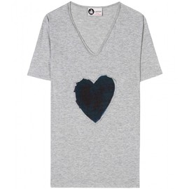 Lanvin - T-SHIRT WITH HEART APPLIQUÉ
