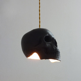 Raw Dezign - Image of Skull Pendant Light - Black