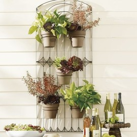 Pottery Barn - Weathered Metal Wall Planter