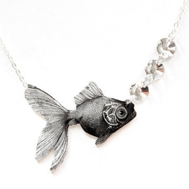 Image of Goldfish & Bubbles Necklace