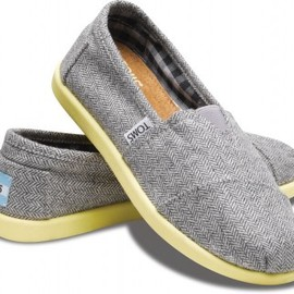 TOMS - Yellow Pop Herringbone Youth Classics