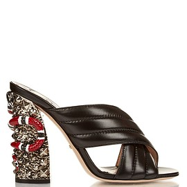 GUCCI - SS2016 Sylvia crossover embellished mules