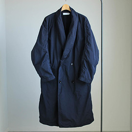 Graphpaper - Shawl Collar Shop Coat #navy