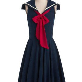 ModCloth - Sea Shanty Singing Dress in Navy