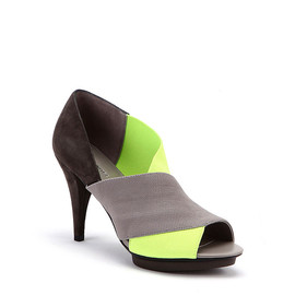 UNITED NUDE - Fold Sandal Deluxe Neon Yellow Elastic + Suede