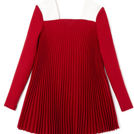 VALENTINO - Short Plisse Trapeze Dress