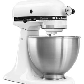 kitchen Aid - KitchenAid KSM75WH Classic Plus Tilt-Head 4-1/2-Quart Stand Mixer, White