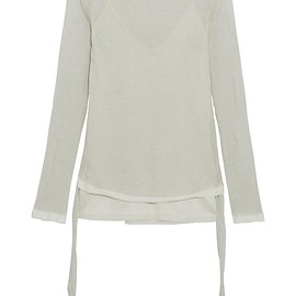 Barbara Casasola - Ribbed silk-blend top