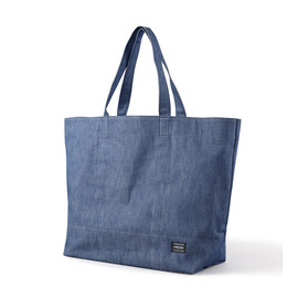 "HEAD PORTER - ""DENIM"" SHOPPING BAG (XL)"