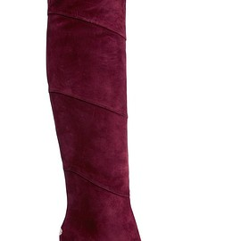 Jimmy Choo - Maira paneled suede over-the-knee boots