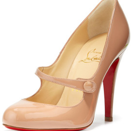 Christian Louboutin - Christian Louboutin Charlene Mary Jane Red Sole Pump in nude