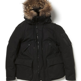 nonnative - TROOPER DOWN JACKET COTTON WEATHER CLOTH WITH WINDSTOPPER® 2L