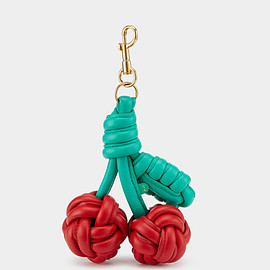 ANYA HINDMARCH - Woven Cherry Charm  by Anya Hindmarch