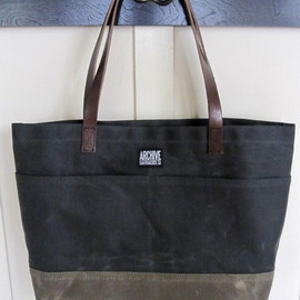 ARCHIVE BAGS - TOTE BAG (Waxed canvas)