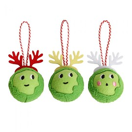 paperchase - Sprout Christmas decorations - box of 3