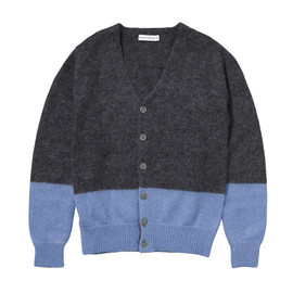 HEAD PORTER PLUS - TWO-TONE MOHAIR CARDIGAN