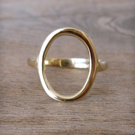 PORTER GULCH - 14k Gold Circle Ring