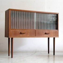 Fusion Interiors - small sideboard with glass door