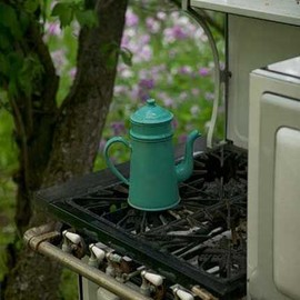sweet camp - Wake up to the smell of coffee in your own outdoor kitchen.