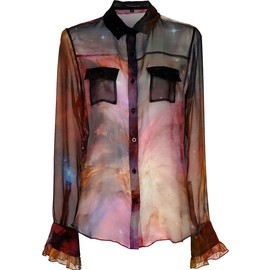 CHRISTOPHER KANE - Purple Galaxy Print Shirt