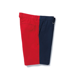 SOPHNET. - 2 TONE SHORT PANT/NAVY × RED