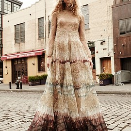 Valentino - Valentino Angel Wings-Print Lace Gown