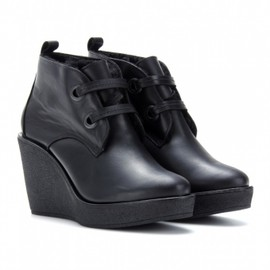 PIERRE HARDY - ピエール アルディ(Pierre hardy)ウェッジブーティー SHEARLING-LINED LEATHER WEDGE BOOTS 1