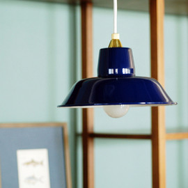 IDEE - PORCELAIN ENAMELED IRON LAMP (NAVY)