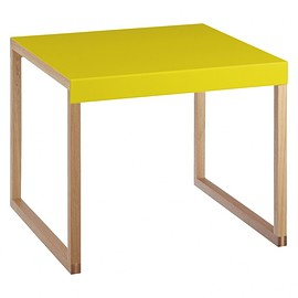 habitat - KILO Saffron yellow metal side table