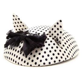 MAISON MICHEL - Polka Dot Cat Ear Fascinator