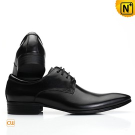 CWMALLS - Mens Black Leather Oxford Shoes Wedding Shoes CW762012