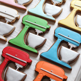 Gingerbread Cookies... In the Shape of KitchenAid Stand Mixers!