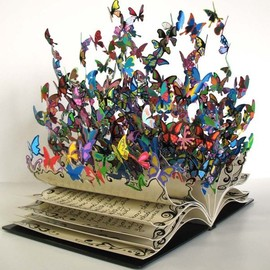 Butterflies Bursting Out of Book