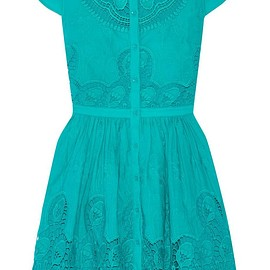Alice + Olivia - Kaley crochet-trimmed embroidered cotton mini dress