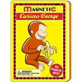 Lee Publications - Curious George Magnetic Tin Play Set