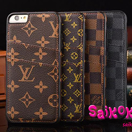 LOUIS VUITTON - LV iphone6s plus レザーケース カード収納