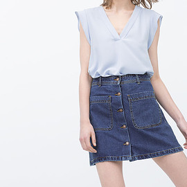 ZARA - DENIM SKIRT WITH POCKETS from Zara