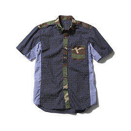 SOPHNET. - S/S MULTI MIX B.D SHIRT