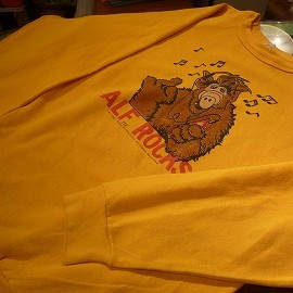 "UNKNOWN - 「<used>'87 ""alf""SWEAT mustard""made in USA"" size:L 5500yen」完売"