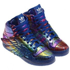 adidas - ADIDAS ORIGINALS BY JEREMY SCOTT JS WINGS SYNTHETIC SUPPLIER COULOR/REGAL PURPLE/BLACK