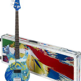Damien Hirst and Flea from Red Hot Chili Pepper - Colour Spin Bass Guitar