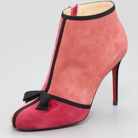Christian Louboutin - Arnoeud Grosgrain-Bow Suede Ankle Boot