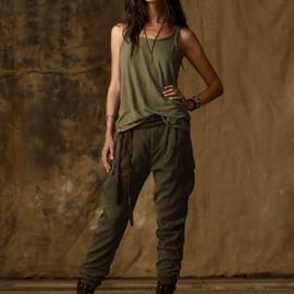 RALPH LAUREN Denim & Supply - Slouchy Twill Cargo Pant
