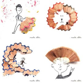 Marta Altes - Pencil shaving art