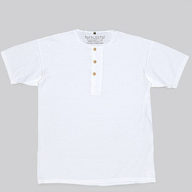 Nigel Cabourn - Basic Henley S.S.-Off White