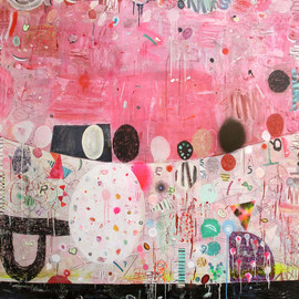 Matías Krahn - Basura y Metal, 2009, mixed media on canvas