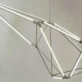 MATTER ( designed by Bec Brittain )  - Thin LED Tube Lamp SHY Light series / Chrome