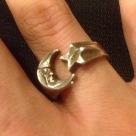 vintage - moon&star ring
