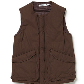 nonnative - Trooper Down Vest - Cotton Weather Cloth