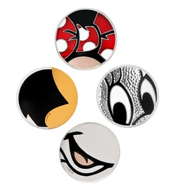 BUNNEY - One-off Minnie Mouse inspired badges